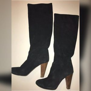 Joie Size 36 Knee High Black Suede Boots